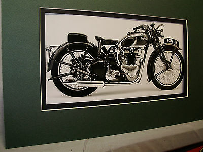 1938 Triumph Speed Twin British Motorcycle Exhibit From Automotive Museum