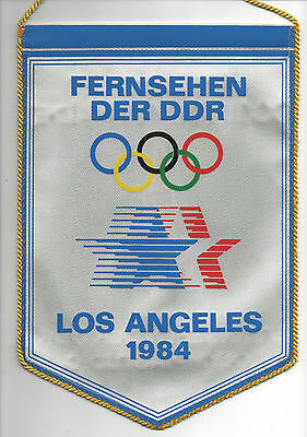 Orig.pennant  Olympic Games LOS ANGELES 1984  -  GDR Television  !!  VERY RARE
