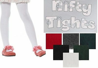 2 Pairs  Luxurious Quality Girls Kids Footed School Nifty Party Tights All size
