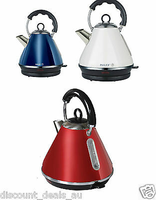Cordless Kettle Electric Retro 1.7L Stainless Steel Water Boiler Automatic Kettl