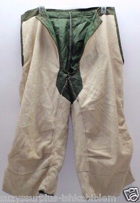 US M1951 od white terry wool arctic trouser liner size small regular used M7698
