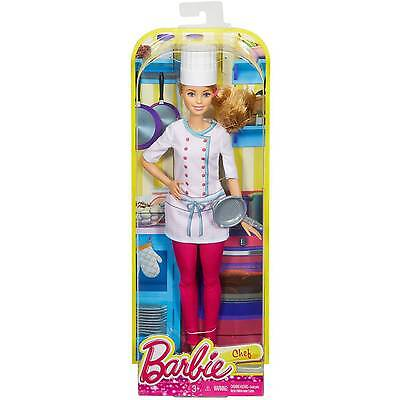 New  Barbie Careers Chef Doll     3+