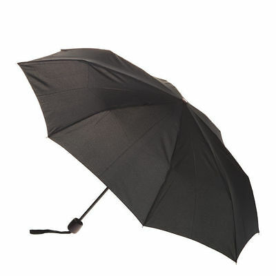 Men's Deluxe Mini Maxi Manual Umbrella - Black