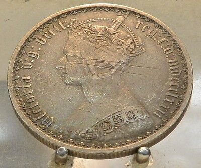 1872 Great Britain Silver Florin, 2 Shillings, Old World Sterling Silver Coin