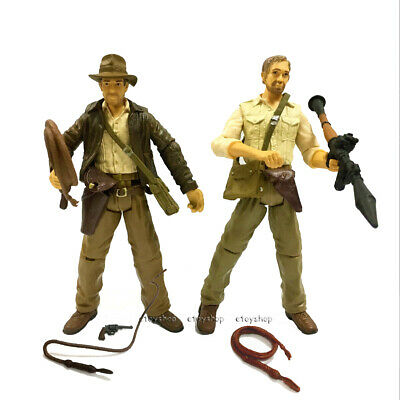 Gift 2pcs  Movie Toys Indiana Jones Raiders of the Lost Ark 3.75in Action Figure