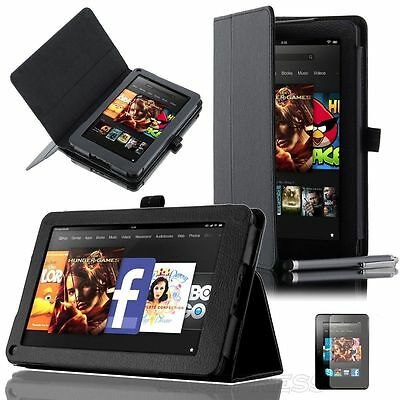 """Leather Smart Stand Case Cover For Amazon Kindle Fire 7"""" (Non-HD 2012 Version)"""