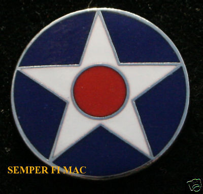 Us Roundel Hat Lapel Pin Up Us Army Marines Navy Airplane Aircraft Marking Star