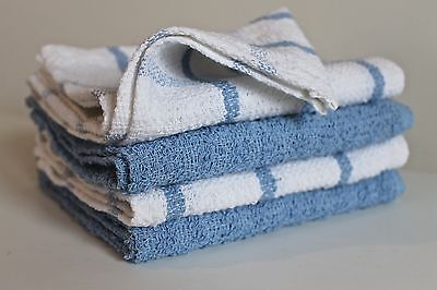 4 Tea Towels Natural Cotton Towel Kitchen Cloth Dish Drying Pink Blue Green New