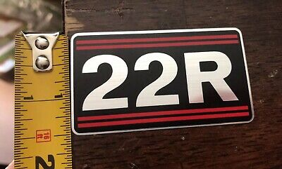 TOYOTA Pickup Truck Celica 22R Valve Sticker / Decal 22R OEM (NEW!)