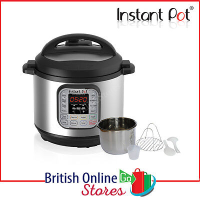 Instant Pot Duo 7-in-1 Electric Pressure Cooker, 6 Litre IP-DUO60
