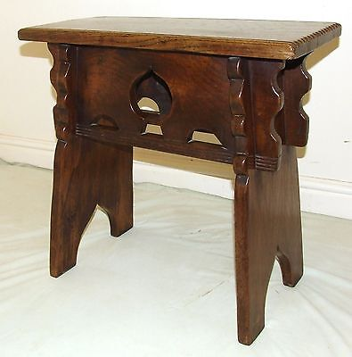 Antique Oak Joint Stool in the Manner of Rare Mid 16th Century Oak Boarded Stool