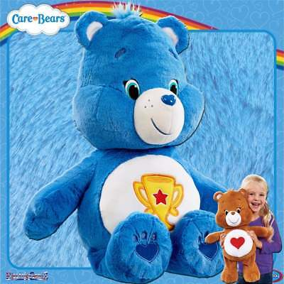 Care Bears Large 20in Plush Soft Cuddly Toy  - Blue Champ Bear with Trophy Motif