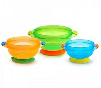 Munchkin Baby Toddler Food Bowls Suction Base Small Medium Large