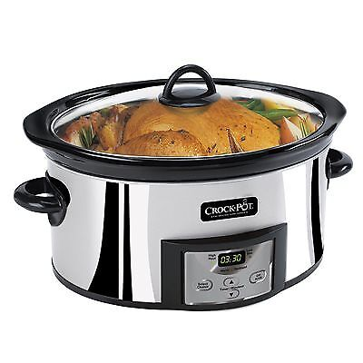 Oster Crock Pot Slow Cooker 6-Quart - Stainless Steel