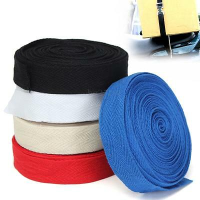 25mmx10m Cotton Webbing Herringbone Twill Tape Sew Strap For DIY Apron Bunting