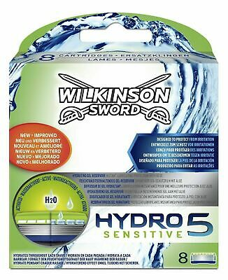 Wilkinson Sword Hydro 5 Sensitive Razor Blades - 8 Pack Genuine