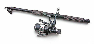 Telescopic 3.6M 12FT Travel Fishing Rod + Reel With Line Combo