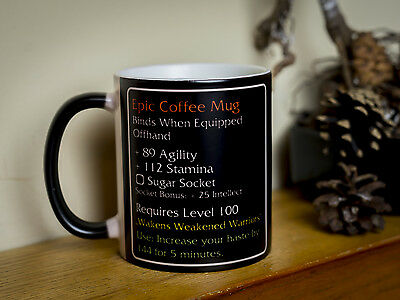 Epic Magic Ultra Coffee mug Heat change color cup funny item fan MMO mmorpg game