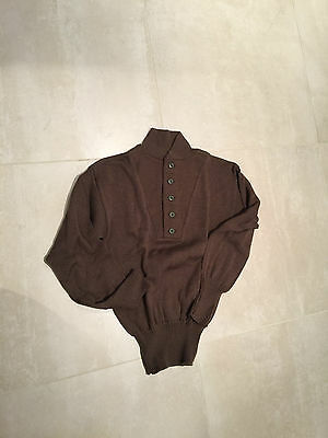 us army 5 buttton swater new old stock,1991 medium,OD,100% wool