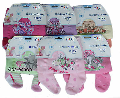 Baby Girls Terry Tights Winter Leg Warmers 12-18 M Cotton
