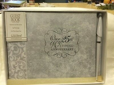 C.R Gibson Snapshot Photo Album 25th Our Silver Anniversary Holds 20 Photos