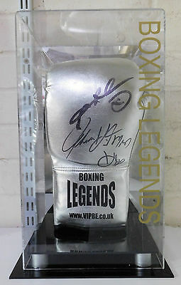 Sugar Ray Leonard and Tommy Hearns Dual Hand Signed Boxing Glove RARE COA