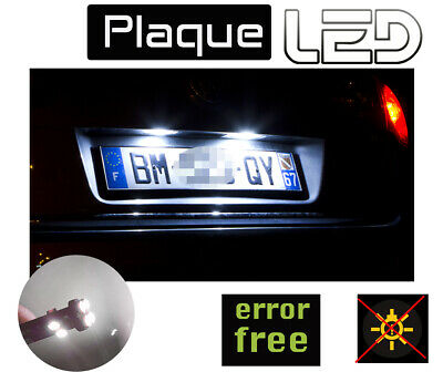 Citroen C4 II  2 Ampoules LED blanc plaque immatriculation License plate Canbus