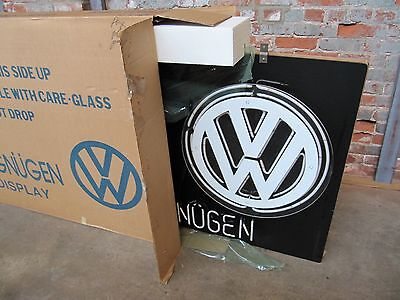 NOS Original VW Dealership Showroom Fahrvergnugen Neon Sign 5' x 3'