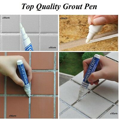 Tile Grout Whitening Pens Easy Refresh & Restore Kitchen Shower Bathroom Tiles
