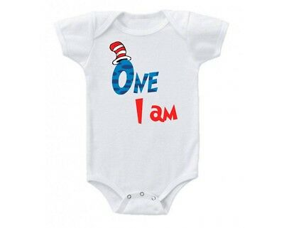 Dr Seuss Shirts, 1st Birthday, Personalized Shirts, I am one, Dr. Seuss