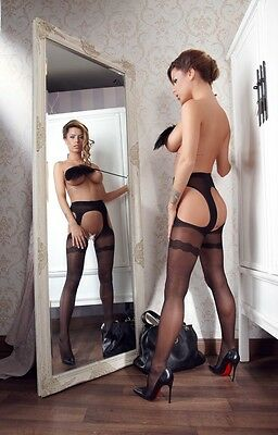 Strip Strumpfhose - Cottelli Collection Stockings & Hosiery Gr. L (4)