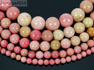 Grade A Natural Rhodochrosite Gemstone Round Beads 15.5'' 6mm 8mm 10mm 12mm
