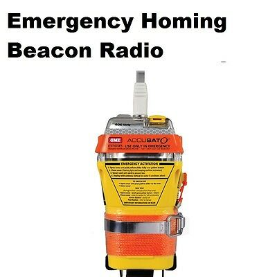 Emergency Homing Beacon Radio & Light Strobe EPIRBs QUICK RELEASE 406MHz Boating