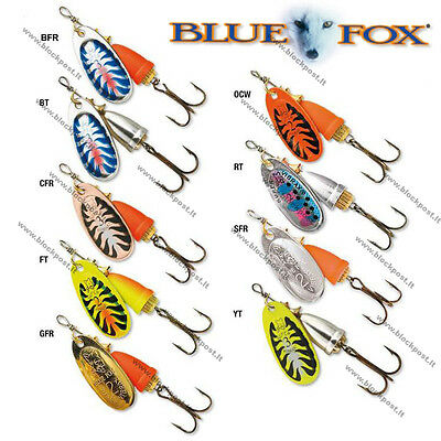 DIFFERENT COLORS//WEIGHT Blue Fox Vibrax Chaser Fishing Spinners NEW 2019