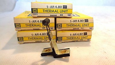 New In Box Lot Of 5  Square D Ar4.80 Thermal Unit