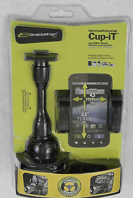 Bracketron UCH-101-BL Universal Cup-iT II Mount with Grip-iT for GPS, New