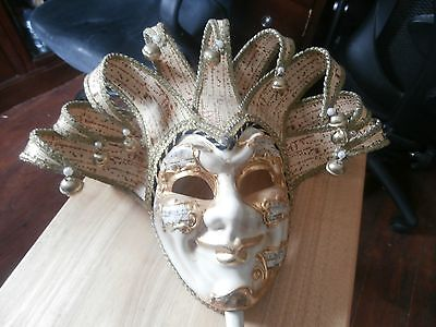 Genuine Italian Venetian Handpainted Masquerade Mask Collectible Decoration
