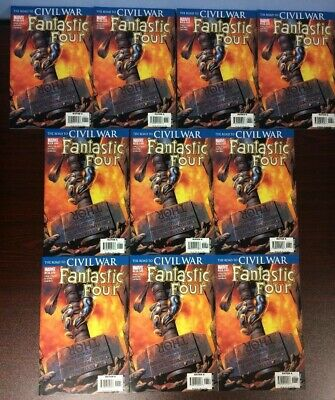 Fantastic Four #536-1St Print-Road To The Civil War-Thor Hammer-Lot Of 10 Copies