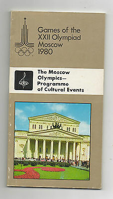 Orig.Complette PRG    Olympic Games MOSKAU 1980 // Cultural Events  !!    RARE