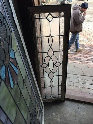 Sg 459 Antique Transom Window In Original Frame