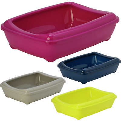Cat Jumbo Litter Tray With Rim 57x43x16cm 4 Colours Quality Box Toilet Large