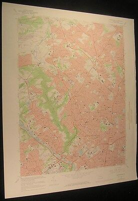 Germantown Pennsylvania Philadelphia 1974 vintage USGS original Topo chart map