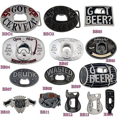 Bottle Opener Belt Buckle Men Women Metal Silver Vintage Fashion Costume Drink