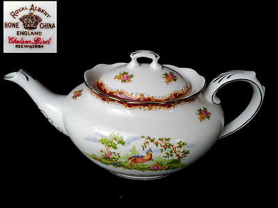 Royal Albert CHELSEA BIRD Rare Large 6 Cup TEA POT c1941 Reg No 839184