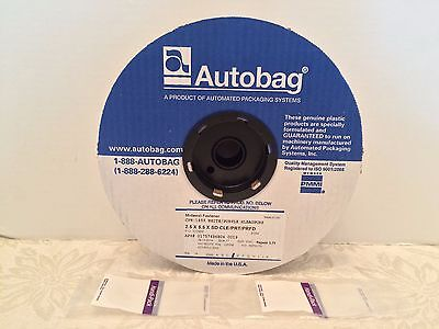 """Autobag Roll of 2000 Auto bags Poly Bags Clear/Purple """"2.5x5.5"""" Plastic New USA"""