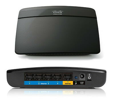 Cisco Linksys E1200 Wireless N300 300Mbps Router WLAN 4 Ports