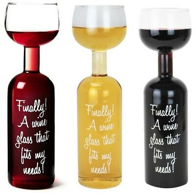 The Wine Bottle Glass Large - Holds A Whole Bottle 750ml Transparent