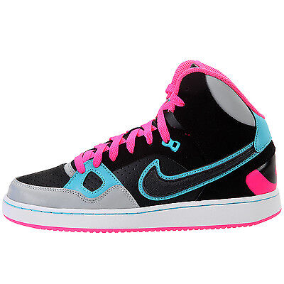 Nike Son Of Force Mid (Gs) Black/Grey/Pink Girls Trainers Shoes UK 3.5_4.5_5_5.5