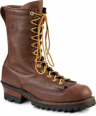 Brown, Size 9 White's Boots Hathorn Explorer Lace-to-Toe Logger Boot