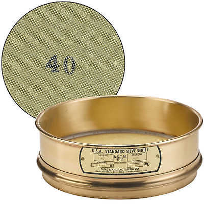 "No. 40; 425 µm/0.0165"" Dual Manufacturing Standard Testing Sieve"